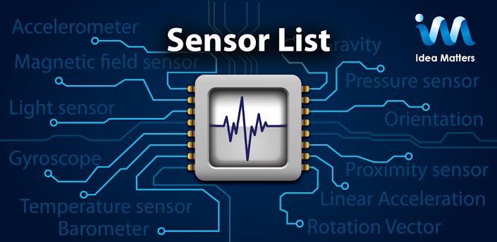 Descargar Sensor List gratis para Android