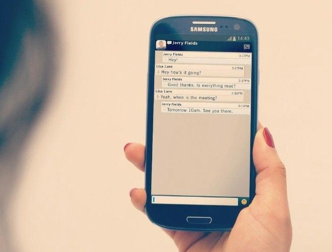 Asi sera la interfaz del nuevo Blackberry Messenger en Android.