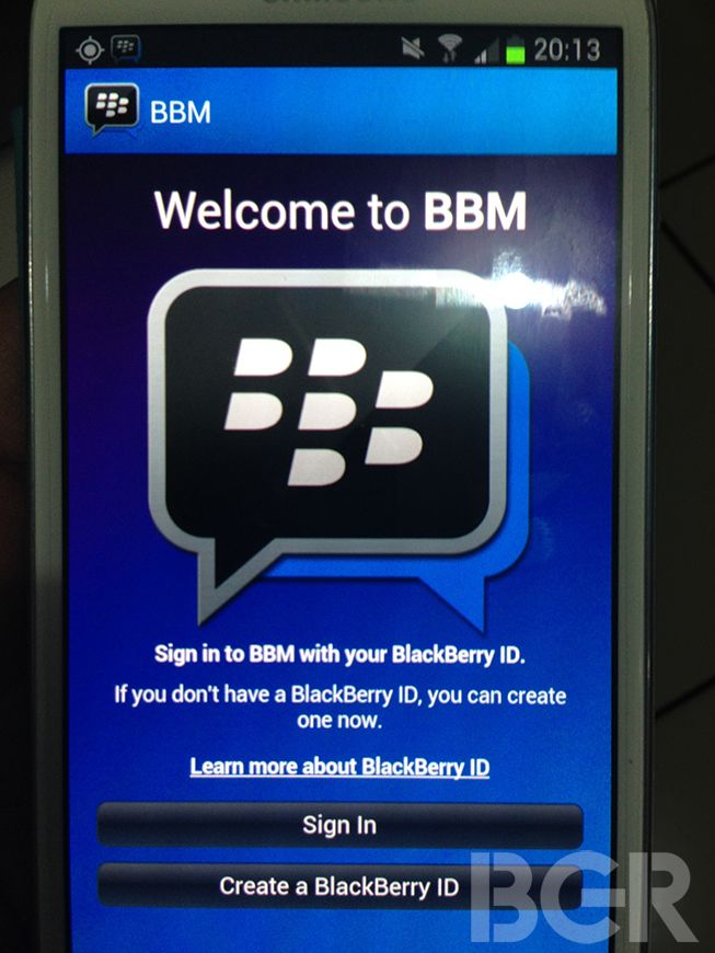 blackberry messenger para android y ios