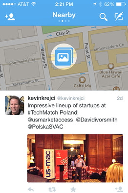 Nueva función en Twitter: Función de cercanía