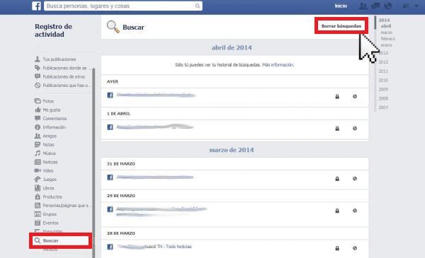 Facebook, Twitter y Google, ¿Cómo borrar sus búsquedas