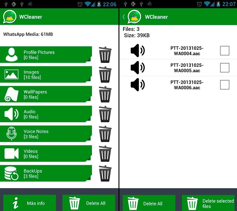 WCleaner, limpia tu WhatsApp
