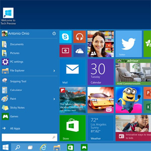 Preview de Windows 10