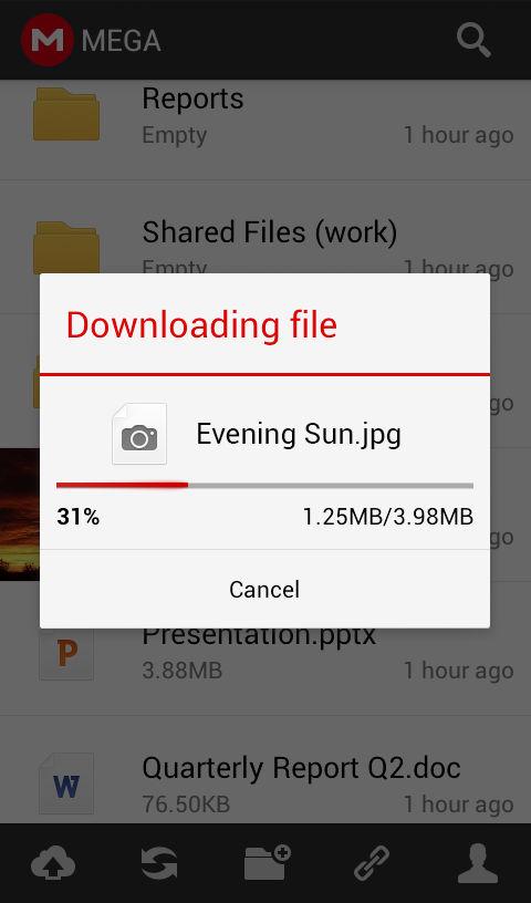 descargar app mega para android