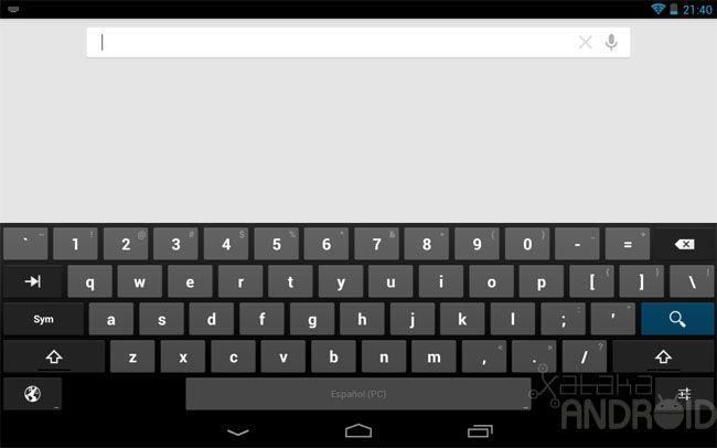 teclado numerico superior